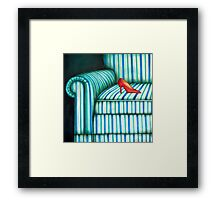 Armchair and shoe Framed Print