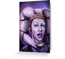 Alien Thief Girl Greeting Card