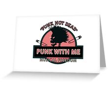 Punk Rorck Greeting Card