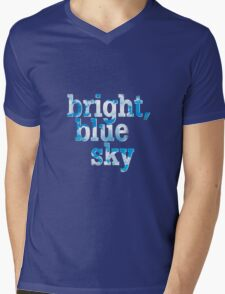 Bright, blue sky Mens V-Neck T-Shirt