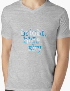 Bright, blue sky Mens V-Neck T-Shirt