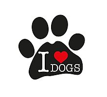 I love dogs Photographic Print