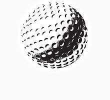 GOLF BALL, SPORT, Golfing, Golf, Black on White Unisex T-Shirt