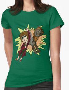Bilbo vs Wicket.  Womens Fitted T-Shirt