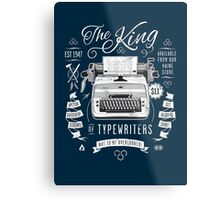 The King of Typewriters Metal Print