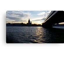 The Danube in Vienna Canvas Print
