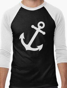 Simple White vector anchor Men's Baseball ¾ T-Shirt