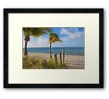 Gentle Breeze at the Beach Framed Print