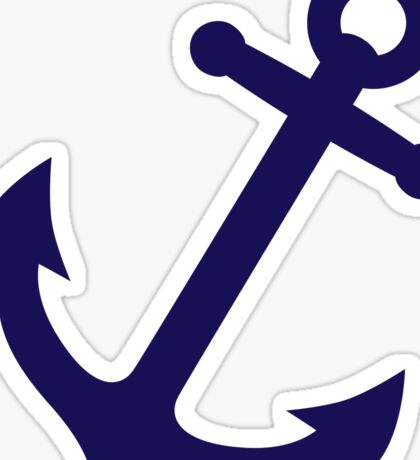 Navy Blue Anchor Sticker