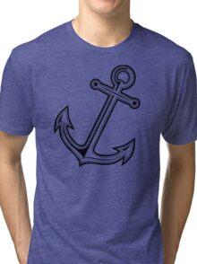 Black vintage anchor Tri-blend T-Shirt