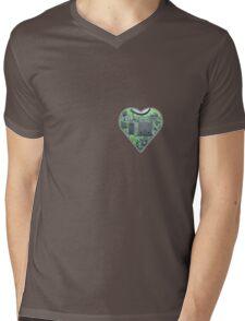 Hardwired Heart Mens V-Neck T-Shirt