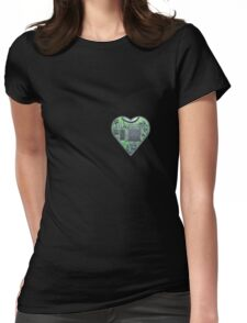 Hardwired Heart Womens Fitted T-Shirt