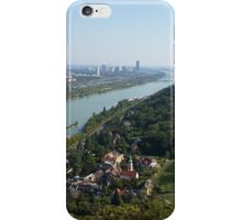 The view of Vienna from Leopoldsberg iPhone Case/Skin