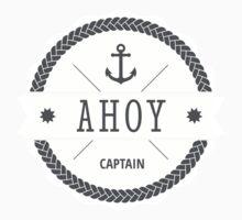 AHOY Captain Badge with anchor One Piece - Long Sleeve