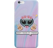 Alien Emoji in Flower Crown iPhone Case/Skin