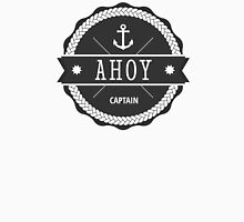 AHOY Captain Badge with anchor Unisex T-Shirt