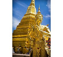 Kinnara Statue in The Grand Palace, Bangkok Photographic Print