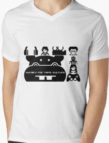 Nerd Hippo Splash Mens V-Neck T-Shirt