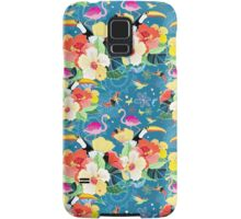 tropical pattern with birds Samsung Galaxy Case/Skin