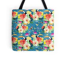 tropical pattern with birds Tote Bag