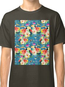 tropical pattern with birds Classic T-Shirt