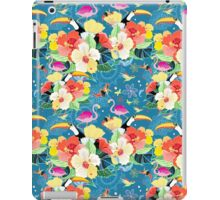 tropical pattern with birds iPad Case/Skin