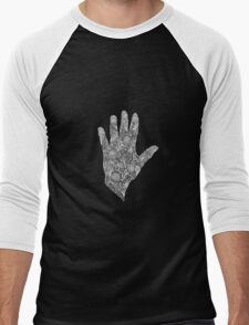 HennaHandWhite Men's Baseball ¾ T-Shirt