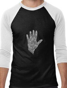 HennaHandWhite Men's Baseball ¾ T-Shirt