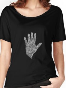 HennaHandWhite Women's Relaxed Fit T-Shirt