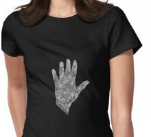 HennaHandWhite Womens Fitted T-Shirt