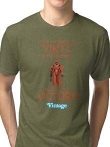 Vintage STAR WARS Vinyl Caped Jawa Kenner Style Action Figures Tri-blend T-Shirt
