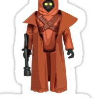 Vintage STAR WARS Vinyl Caped Jawa Kenner Style Action Figures Sticker
