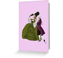 Amazed Rococo couple Greeting Card