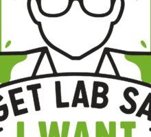 Forget Lab Safety Sticker