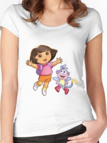 Dora The Explorer Women's Fitted Scoop T-Shirt