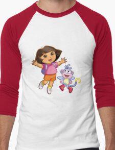 Dora The Explorer Men's Baseball ¾ T-Shirt