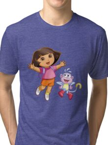 Dora The Explorer Tri-blend T-Shirt