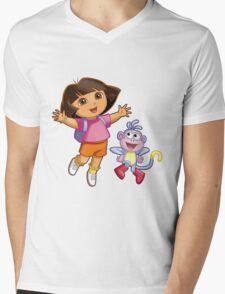 Dora The Explorer Mens V-Neck T-Shirt