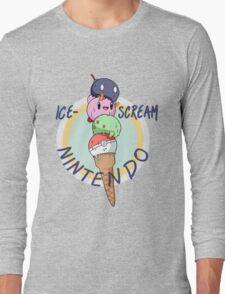 Nintendo icecream, with text!! Long Sleeve T-Shirt