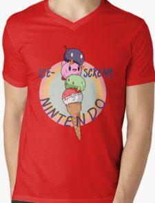 Nintendo icecream, with text!! Mens V-Neck T-Shirt