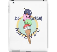 Nintendo icecream, with text!! iPad Case/Skin