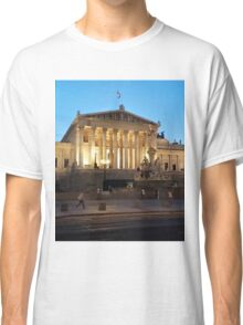 The stunning Austrian Parliament building Classic T-Shirt