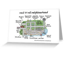rock 'n' roll neighbourhood Greeting Card