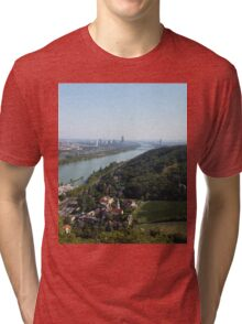 The view of Vienna from Leopoldsberg Tri-blend T-Shirt