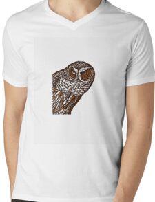 Brown Owl Mens V-Neck T-Shirt
