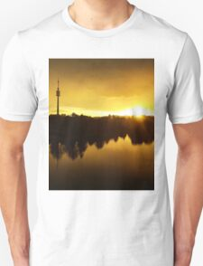 The Vienna Sunset on the Danube Unisex T-Shirt