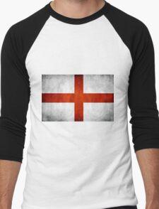 England Flag - St Georges Men's Baseball ¾ T-Shirt