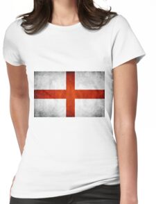 England Flag - St Georges Womens Fitted T-Shirt