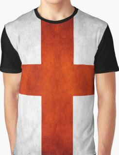 England Flag - St Georges Graphic T-Shirt