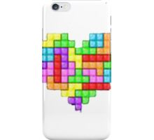 tetris, tretris, tretis, head, corazon iPhone Case/Skin